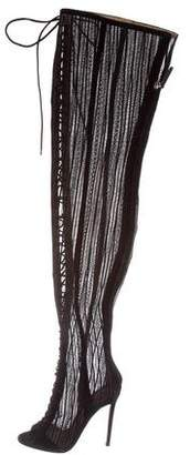 Gianvito Rossi Lace Over-The-Knee Boots