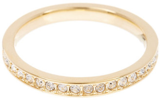 Swarovski 23K Gold Plated Rare Crystal Ring - Size 55 (US 7) $75 thestylecure.com