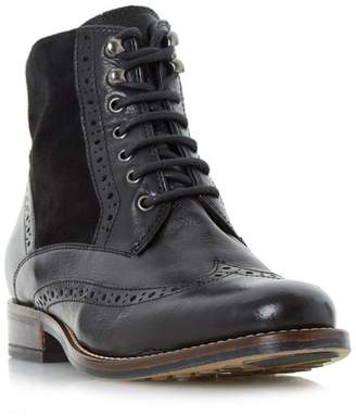 Dune Black 'Philomena' Brogue Detail Lace Up Ankle Boots