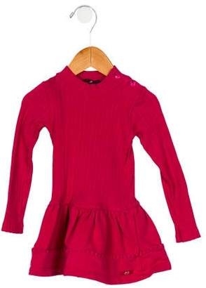 Lili Gaufrette Girls' Rib Knit Long Sleeve Dress
