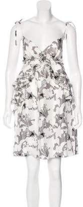 Thomas Wylde Sleeveless Floral Print Dress