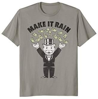 "Hasbro Mr. Monopoly ""Make It Rain"" Money T-Shirt"