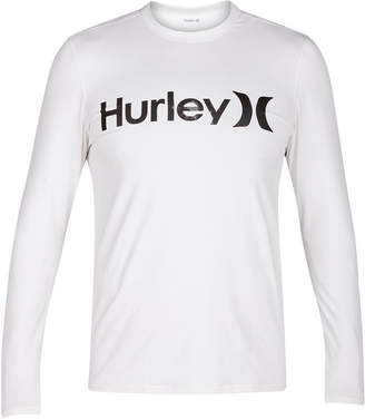 Hurley Men's Logo Long-Sleeve Swim Shirt