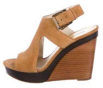 MICHAEL Michael Kors Suede Platform Wedge Sandals