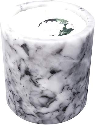 Gardenia Inartisan Soy Wax Candle in White Marble Holder, Large,