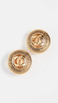 Chanel What Goes Around Comes Around Sunburst Earrings
