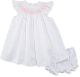 Luli & Me Smocked Bishop Dress w/ Bloomers, Size Newborn-9M
