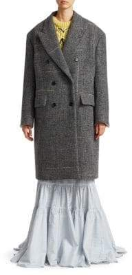 Calvin Klein Wool Tweed Coat