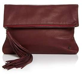 Halston Christie Leather Foldover Clutch
