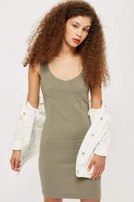 Topshop Tall Under Bust Rib Bodycon Dress