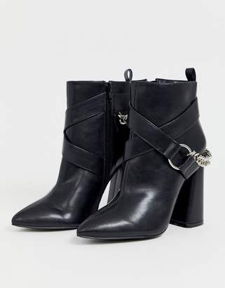Co Wren pointed heeled boots with chain detail