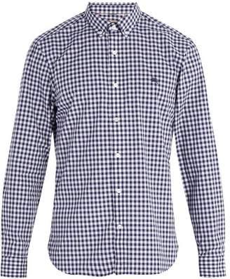 Burberry Navy Gingham Check Cotton Shirt - Mens - Navy