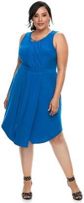 JLO by Jennifer Lopez Plus Size Embellished Fit & Flare Dress