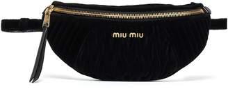 Miu Miu (ミュウミュウ) - Miu Miu Miu Rider キルティングベルベット ベルトバッグ