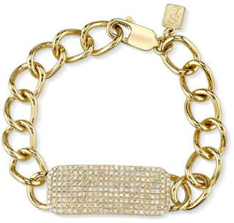 Sheryl Lowe 14k Gold Bracelet w/ Diamond ID Tag