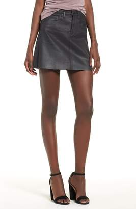 Blank NYC BLANKNYC Coated Denim Miniskirt
