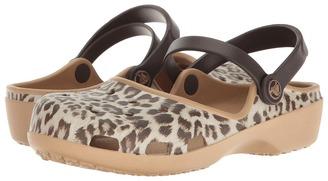 Crocs - Karin Graphic Clog Women's Clog/Mule Shoes $30 thestylecure.com