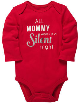 Carter's Long-Sleeve Christmas Bodysuit