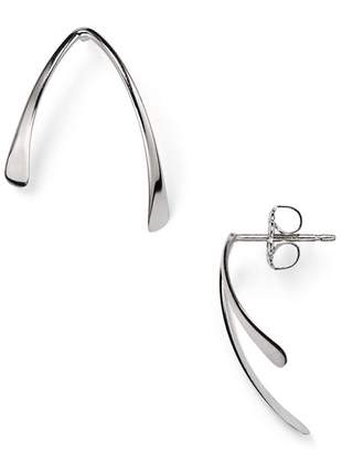 Bloomingdale's Sterling Silver Asymmetrical Wishbone Stud Earrings - 100% Exclusive