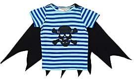 Siaomimi Skull-Print T-Shirt With Cape-Blue
