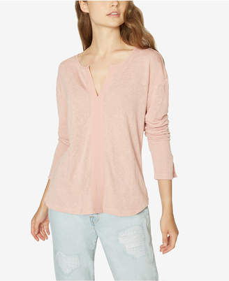 Sanctuary Sienna Split-Neck Contrast Top