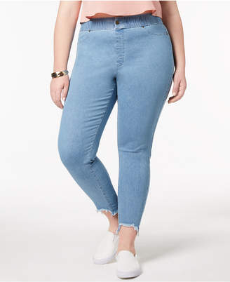 Hue Women's Plus Size Step-Hem Original Denim Leggings, Created for Macy's
