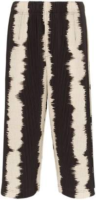 Issey Miyake Homme Plissé Brown and Ivory Dyed Trousers