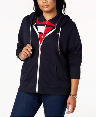 Tommy Hilfiger Plus Size Zip-Front Hoodie