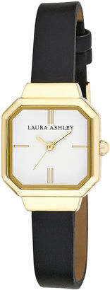 Laura Ashley Ladies Black Petite Case With Matching Colored Sunray Dial Watch La31004Bk $295 thestylecure.com