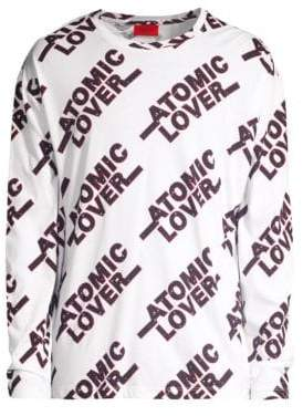 HUGO Oversized Atomic Lover Graphic Pullover