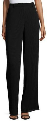 McQ Alexander McQueen Pleated High-Waist Pants, Black $540 thestylecure.com