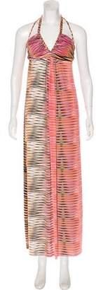 Thierry Mugler Printed Midi Dress