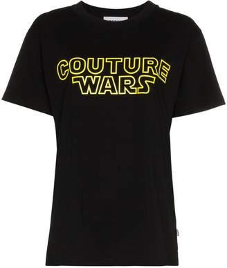 Moschino Wars logo cotton t shirt