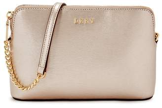DKNY Bryant Pale Rose Gold Leather Cross-body Bag