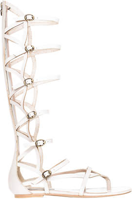 Max Studio valiant : waxed leather gladiator knee high sandals