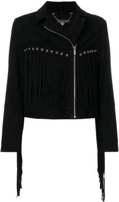 Twin-Set fringe eyelet jacket