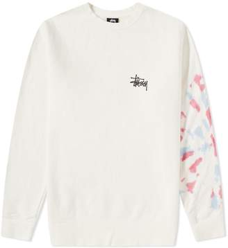 Stussy Basic Tie Dye Crew Sweat