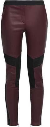 Belstaff Aberford Suede-Paneled Leather Leggings