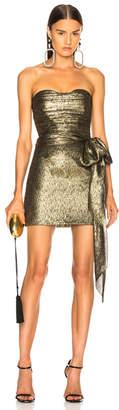 Saint Laurent Jacquard Bustier Mini Dress