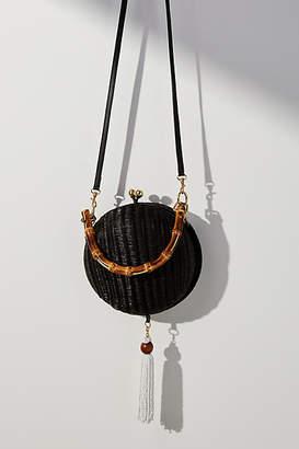 Serpui Marie Lizzie Wicker Crossbody Bag