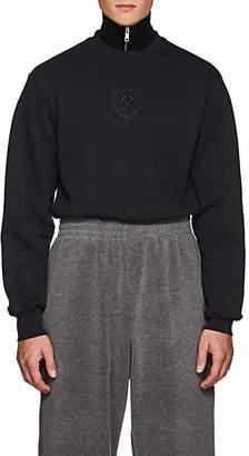 GmbH Men's Logo Cotton Fleece Shrunken Sweatshirt - Navy