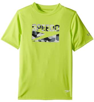 Speedo Kids Sharkamo Boom Short Sleeve Swim Tee Boy's Swimwear