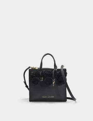 Marc Jacobs The Mini Grind Tote Bag in Black Cow Leather