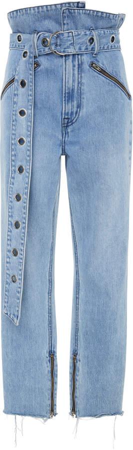 Denim Mia Cropped Straight-Leg Jeans