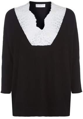 Claudie Pierlot Lace Collar Sweater