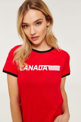 Ardene Canada Ringer Tee