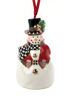 Mackenzie Childs MacKenzie-Childs Top Hat Snowman Bell Ornament