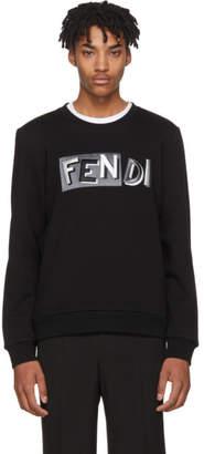 Fendi Black Vocabulary Sweatshirt