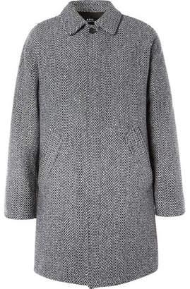 A.P.C. Ivan Herringbone Wool-Blend Coat - Gray