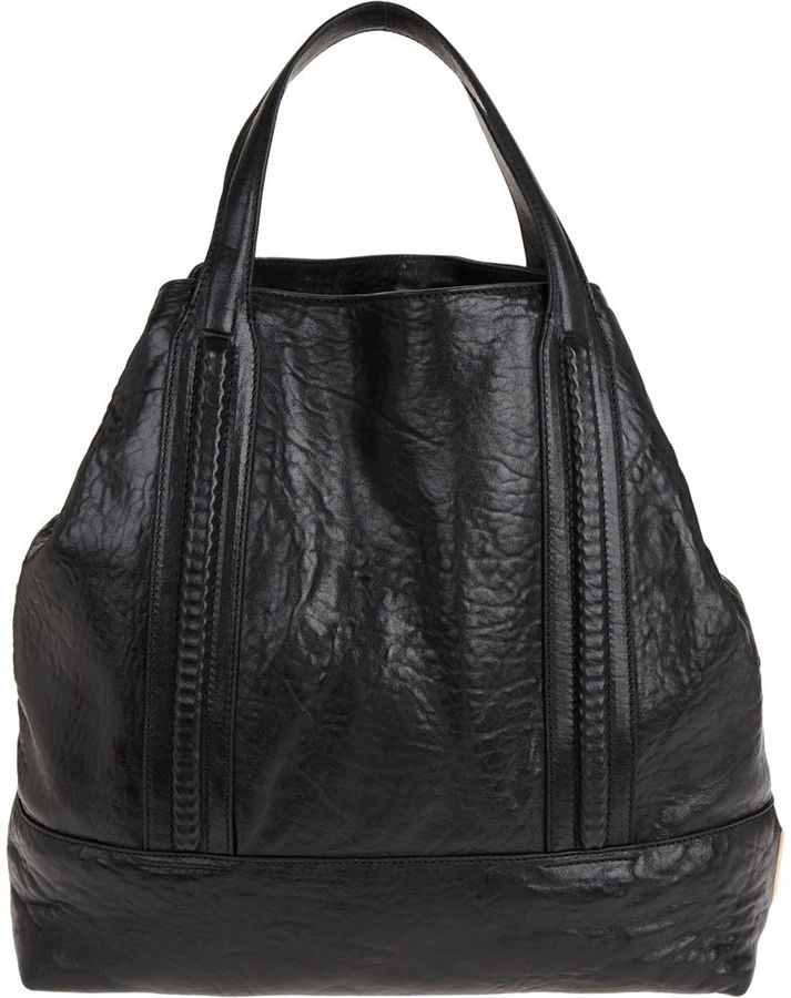 Givenchy Large Pebbled Tote - Black